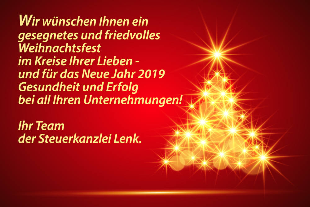 frohe weihnachten steuerkanzlei lenk donauw rth